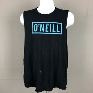 O'neill Men's Tank Top Cut Off Sleeves Size L Blac